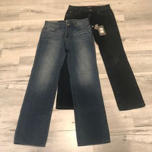 Two pairs of boys seven jeans, size 14. One NWT